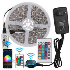 5m LED Lichtband Licht Streifen Stripe RGB RGBW WIFI Controller APP Dimmbar 12V