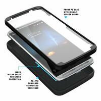For ZTE AXON 7 Poetic Shockproof Dual Layer Kickstand Cover-【Revolution】Black