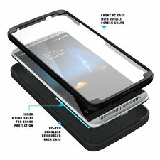 For ZTE AXON 7 POETIC Revolution Shockproof Rugged Protection Hybrid Case Black