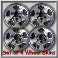"2001-2002 GMC Sierra Truck 1500 Chrome Wheel Skins, Hubcaps 16"" Wheels Set of 4"