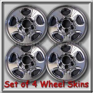 "2003-2004 GMC Sierra Truck 1500 Chrome Wheel Skins, Hubcaps 16"" Wheels Set of 4"