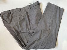 Lauren Ralph Lauren Men's Gray Striped Wool Dress Pants 38X32 $98