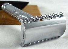 Gently Used - Muhle R41 Chrome-Plated Open-Comb Double-Edge Safety Razor