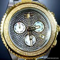 Invicta Grand Diver 1.94 CTW Diamond Chronograph Two Tone Steel Watch 47mm New