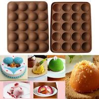 Silicone 20Hole Cake Mold Half Ball Sphere Cupcake Chocolate Muffin Baking Mold