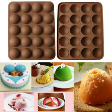Silicone 20Hole Cake Mold Half Ball Sphere Cupcake Chocolate Muffin Baking Mold