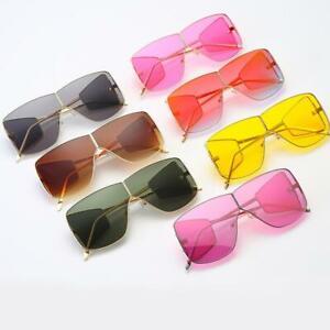Oversized Luxury Fashion Womens Ladies Black Flat Top Large Sunglasses SquareA