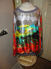 MADISON PAIGE Plus Sz Blouse w/ Color Designs. Size 2X