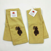 Terry Cloth Cowboy Roper on Horseback Kitchen Towels Set of 2 16x28 inches
