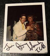 Jimmy Superfly Snuka Signed Polaroid Original Photo Autographed WWF Wrestling