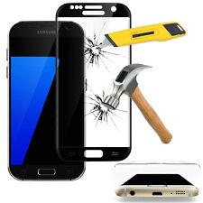 Film en VERRE Trempé Bord Incurvé Resistant NOIR Samsung Galaxy S7 G930F G930FD