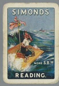 Genuine Swap Vintage Playing Card  Advertising