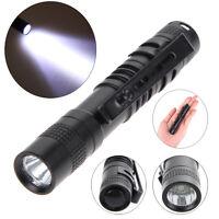XP-E CREE XPE-R3 LED 1000Lumens Lamp Clip Mini Penlight Flashlight Torch AAA New