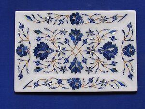 Marble Tray Small Marquetry Mosaic Inlay Semi Precious HANDICRAFT EHS Home Decor