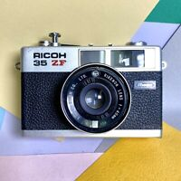 Cla'd Ricoh 500 ZF 40mm f/2.8 compact 35mm Film Camera  Working Order Lomo!