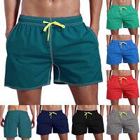 Men Swim Jogger Fitness Beach Sport Running Summer Elastic Waist Shorts Pants