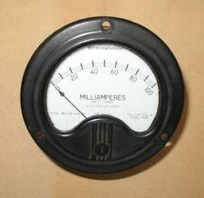 Vintage Westinghouse 0 100 Dc Milliamperes Meter Usn Type Cg 22059