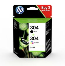 Original HP 304 Black & Colour Ink Cartridges For DeskJet 2630 Inkjet Printers