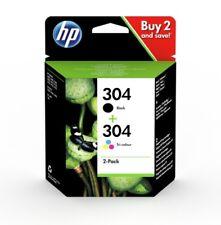 Original HP 304 Black & Colour Ink Cartridges For DeskJet 2630 Inkjet Printers