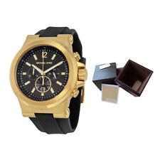 100%25 New Michael Kors MK8445 48mm Case Dylan Chronograph Black Dial Men's Watch