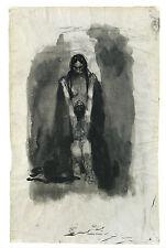Kunstpostkarte - Käthe Kollwitz:  Knieende vor weiblicher Gottheit