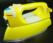 Vtg Yellow Iron Electric Steam Spray 60s J C Penney Model 1584 USA UL Listed