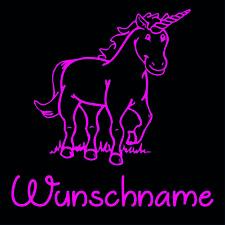 Einhorn ✔ 10cm ✔ Farbauswahl ✔ Bügelbild ✔ Wunschtext ✔ Wunschname ✔ Bügelfolie