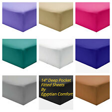 """Fitted Sheet 1800 Count Series 14"""" Deep Pocket Egyptian Comfort Sheets"""