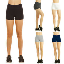 Womens Stretch Shorts Yoga Dance Bike Workout High Waist Hot Spandex Booty S M L