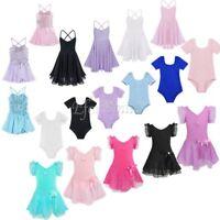 Kids Girls Tutu Ballet Leotard Dance Dress Toddler Ballerina Dancewear Costumes