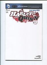 DC Comics - HARLEY QUINN #0 - Blank variant cover - Amanda Conner - NM-