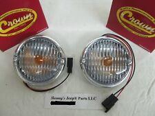 JEEP CJ5 CJ7 CJ8 FRONT SIGNAL PARKING LAMP 1976 1/2 - 1986 PAIR  5752771 NEW!