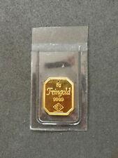 Degussa 5g Feingold 999,9 Goldbarren eingeschweisst