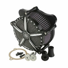 Black CNC Air Cleaner For Harley Touring Electra Street Glide Road King 08-16 15