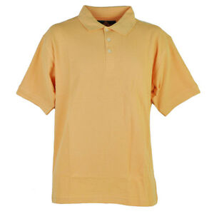 Red Jacket Collar Polo Orange Solid Button Dress Shirt Mens Adult Short Sleeve
