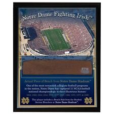Notre Dame Fighting Irish Game Used Student Sec Bench Slab Plaque Steiner Sports