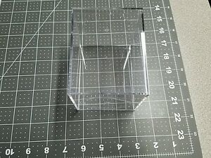 "Acrylic Plastic Display Box Case 4.5"" H x 3.5"" x 3.5"" with cap"