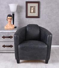 Vintage Sessel Echtleder Retro Armlehnsessel Art Deco Sitzmöbel Ledersessel