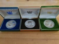 1980, 1982, 1985 New Zealand  Silver Dollar Proof Coins