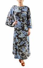 Free PEOPLE Damen Melrose Bedrucktes Maxikleid Schwarz Blau Größe Xs Rrp £ 139 BCF65