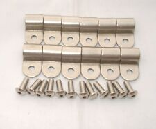 """LINE CLAMPS  3/8"""" SINGLE STAINLESS STEEL 12 PACK SUIT HOT ROD /STREET MACH"""
