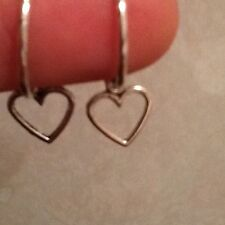 Love heart earrings on a hoop, hook or stud silver in colour