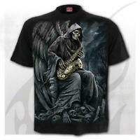 Spiral Direct Reaper Blues Mens T-Shirt Heavy Metal Gothic Tattoo Biker Rock