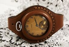 Antique WW1 times New Leather STRAP Band WRISTBAND For Pocket Watch 45mm WWII