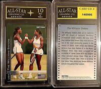 2003 Net Pro Venus & Serena Williams Dual Rookie Card #51 Graded ASG 10 MINT