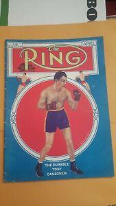 The Ring Boxing Magazine: April 1936. Tony Canzoneri.