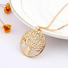 Baum des Lebens Anhänger Halskette Gold Glücksbringer  Wunschbaum Lebensbaum Neu
