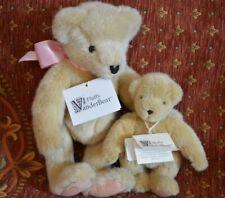 "Vanderbear Jointed Teddy Bear Fluffy 14""  Muffy 8"" 1991-5 North American Bear Co"