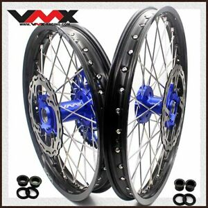 VMX 21/19 MX Dirt Bike Wheels Rim Fit KAWASAKI KX250F KX450F 2006-2014 Disc Blue