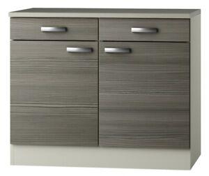Küchen-Unterschrank TOLEDO - 2-türig - 100 cm breit - Pinie Nougat